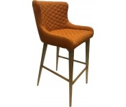 Knightsbridge Burnt Orange Fabric Bar Stool