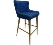 Knightsbridge Cobolt Fabric Bar Stool