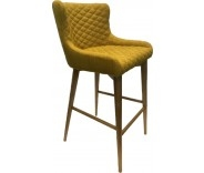 Knightsbridge Saffron Fabric Bar Stool