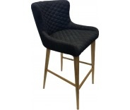 Knightsbridge Steel Fabric Bar Stool