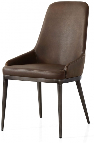 Industrial Contour Dining Chair - vintage Brown