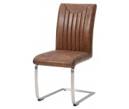Industrial Retro Dining Chair - Vintage Brown