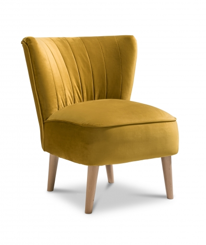 Paris Accent Chair - Plush Mustard