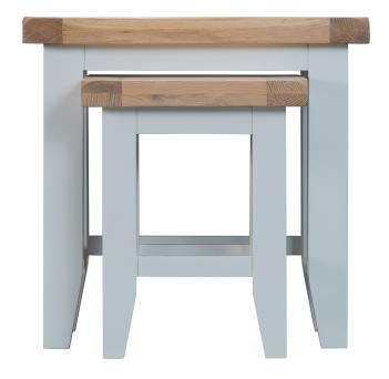 Thornton Painted Oak White Nest of 2 Tables