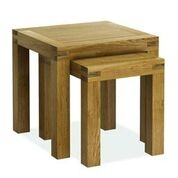 Sutton Rustic Waxed Oak Nest of Tables