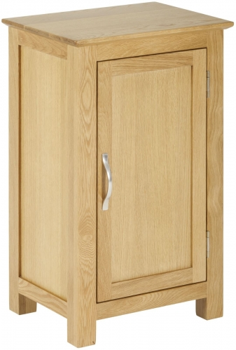 Bergen Light Oak Small 1 Door Cupboard