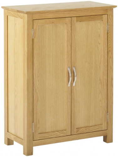 Bergen Light Oak 2 Door Cupboard