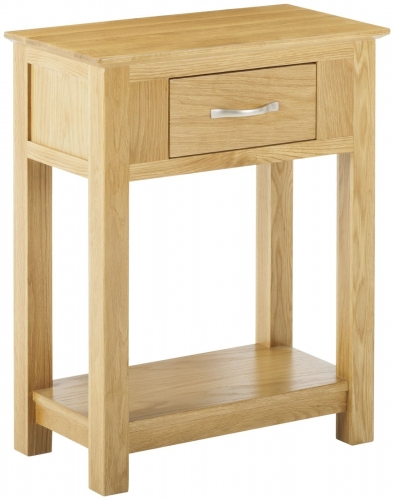 Bergen Light Oak 1 Drawer Console Table