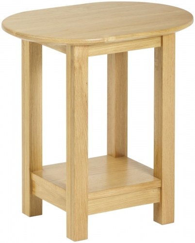 Bergen Light Oak Oval Lamp Table