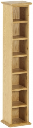 Bergen Light Oak Single CD Tower