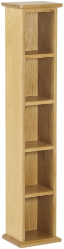 Bergen Light Oak Single DVD Tower
