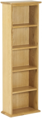 Bergen Light Oak Double DVD Tower