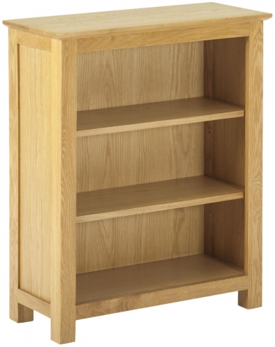 Bergen Light Oak Low Bookcase