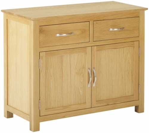 Bergen Light Oak 2 Door 2 Drawer Sideboard