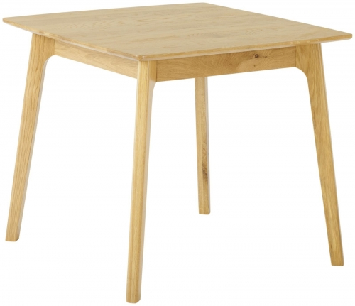 Bergen Light Oak Square Dining Table