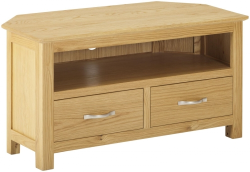 Bergen Light Oak Corner TV Cabinet