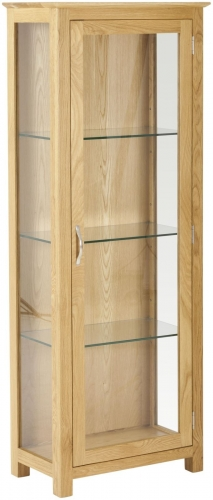 Bergen Light Oak Glass Display Cabinet