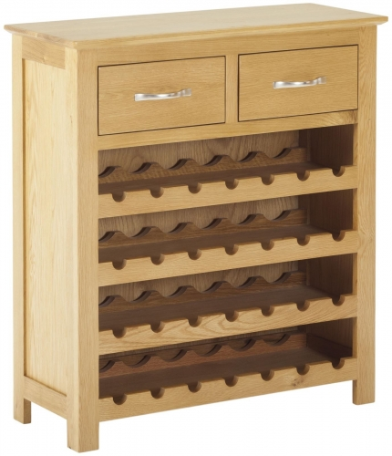 Bergen Light Oak Wine Cabinet