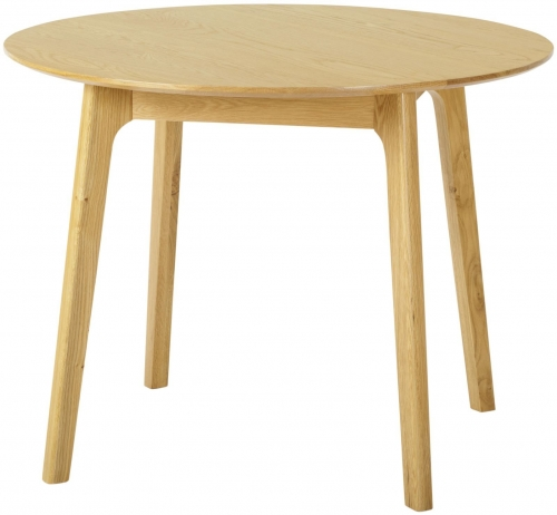 Bergen Light Oak Round Dining Table