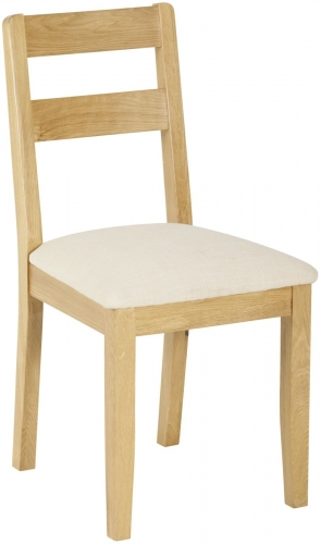 Bergen Light Oak Low Back Chair