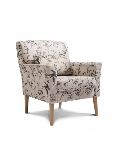 Oxford  Accent Chair - Botanical Dove with Light Legs