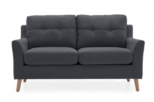 Sienna Fabric 2 Seat Sofa - Charcoal