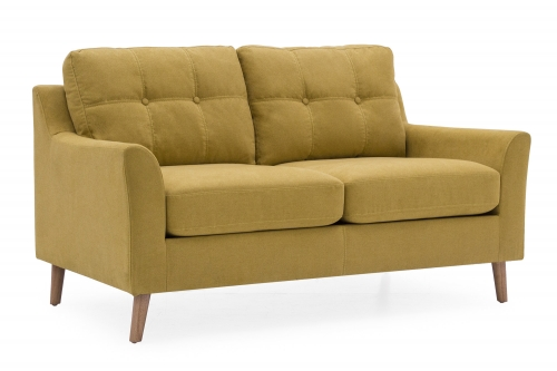 Sienna Fabric 2 Seat Sofa - Citrus
