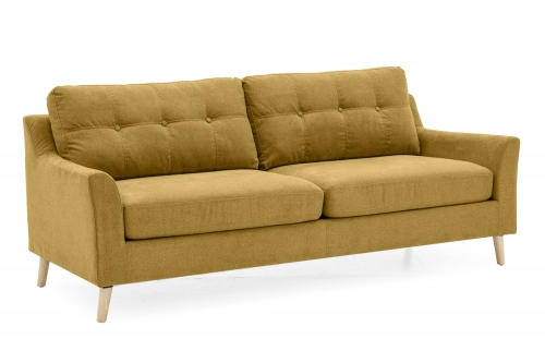 Sienna Fabric 3 Seat Sofa - Citrus