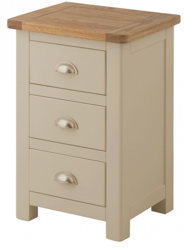 Brompton Pebble 3 Drawer Bedside