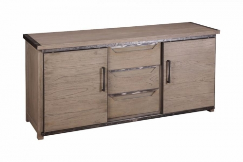 Ilkley Industrial Oak Sideboard - Grey Paint