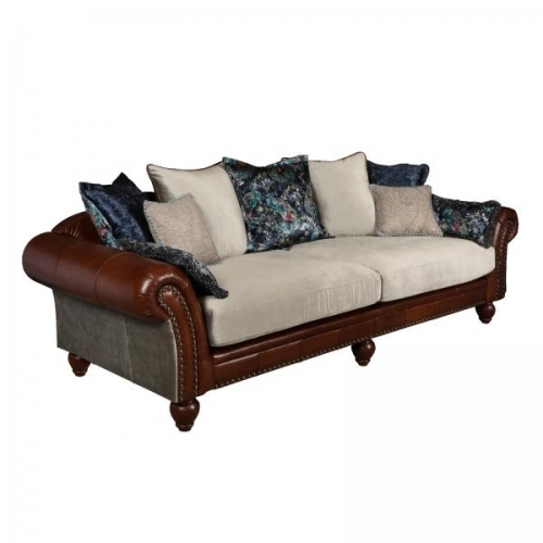 Westwood Leather & Fabric 4 Seater Sofa