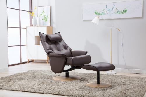 Verona Swivel Recliner & Footstool