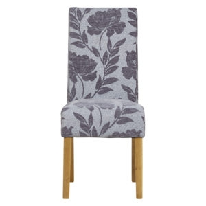 Highgrove Flower Silver Dining Chair