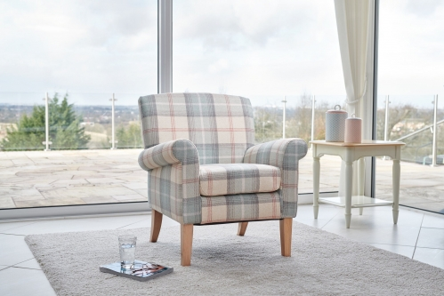 Balmoral Accent Chair - Peppermint Plaid