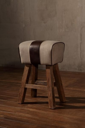 Small Pommel Canvas Bar Stool