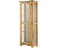 Brompton Oak Glazed Display Unit