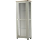 Brompton Stone Glazed Display Cabinet