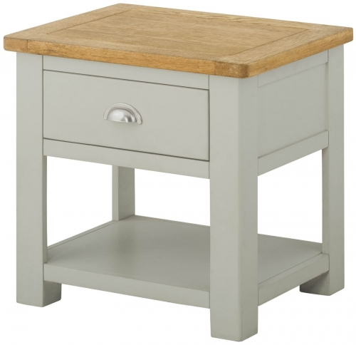 Brompton Stone 1 Drawer Lamp Table
