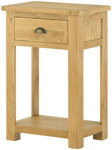Brompton Oak 1 Drawer Console Table