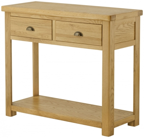 Brompton Oak 2 Door Console Table