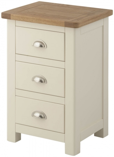 Brompton Cream 3 Drawer Bedside
