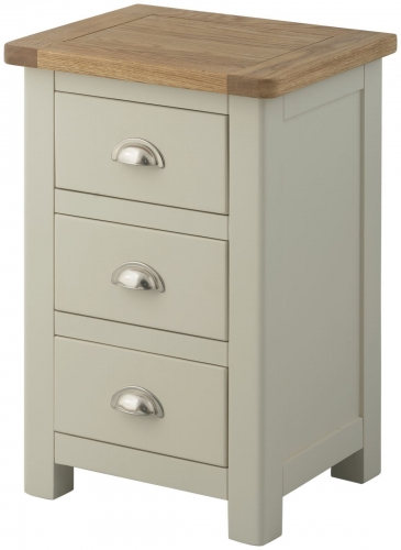 Brompton Stone 3 Drawer Bedside