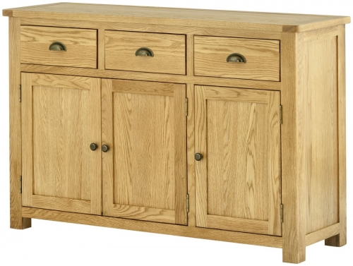 Brompton Oak 3 Door Sideboard
