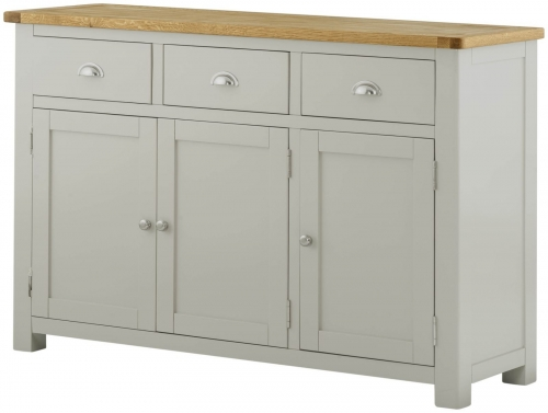 Brompton Stone 3 Door 3 Drawer Sideboard