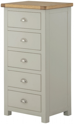 Brompton Stone 5 Drawer Tall Chest