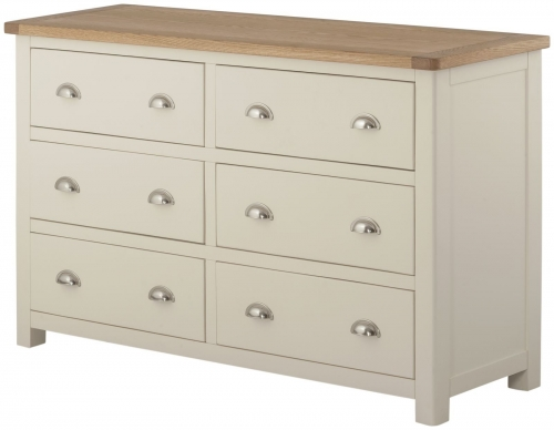 Brompton Cream 6 Drawer Chest