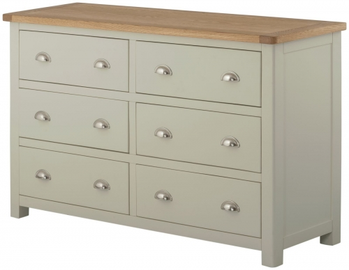 Brompton Stone 6 Drawer Wide Chest