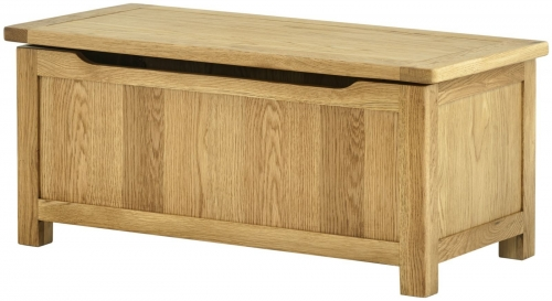 Brompton Oak Blanket Box