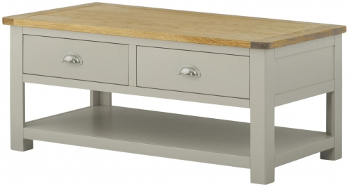 Brompton Stone Coffee Table with Drawers