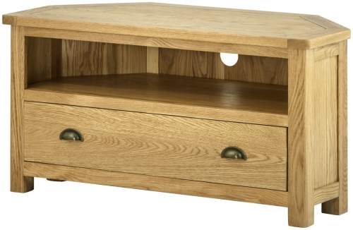 Brompton Oak Corner Tv Unit